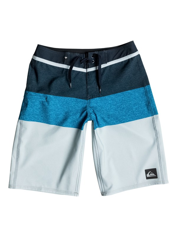 "0 Boy's 8-16 Everyday Blocked Vee 19"" Boardshorts  EQBBS03098 Quiksilver"
