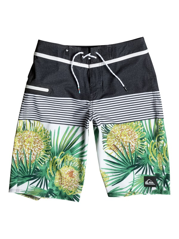 "0 Boy's 8-16 Division Remix Vee 19"" Boardshorts  EQBBS03099 Quiksilver"