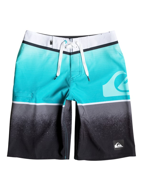"0 Boy's 8-16 Division Logo Vee 18"" Boardshorts  EQBBS03116 Quiksilver"