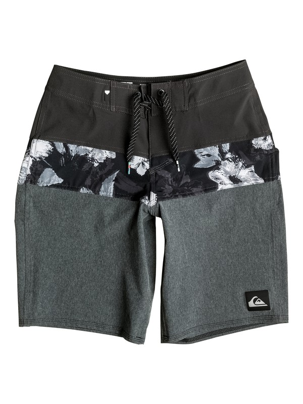 "0 Boy's 8-16 Panel Blocked Vee 18"" Boardshorts  EQBBS03144 Quiksilver"