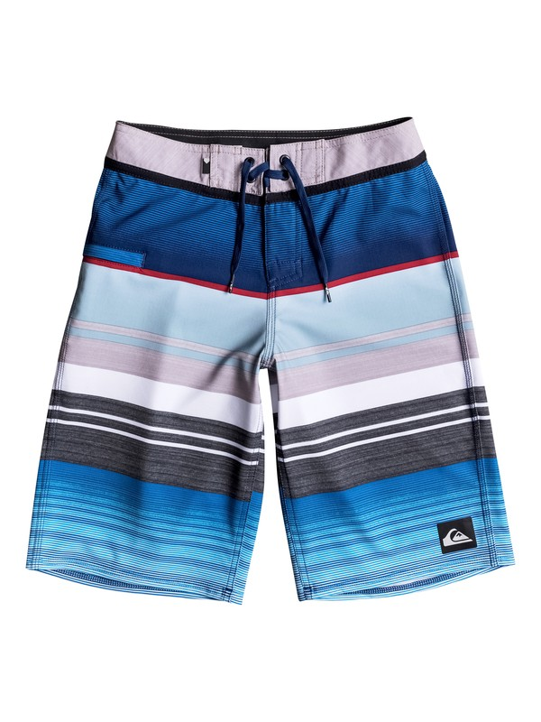 "0 Boy's 8-16 Everyday Stripe Vee 19"" Boardshorts  EQBBS03151 Quiksilver"