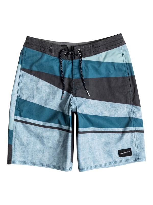 "0 Boy's 8-16 Slash 17"" Beachshorts  EQBBS03158 Quiksilver"