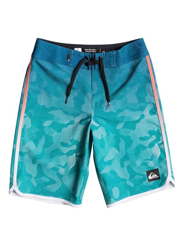 "0 Boy's 8-16 Shore Scallop 18"" Boardshorts  EQBBS03162 Quiksilver"