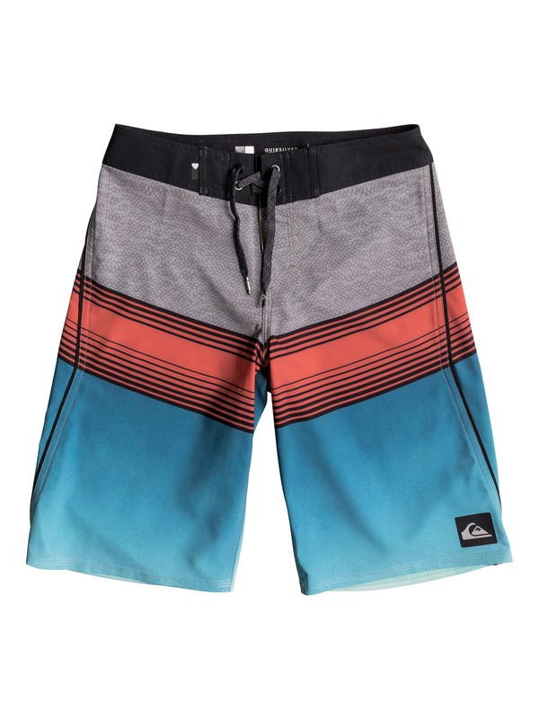 """0 Boy's 8-16 Division Fade 19"""" Boardshorts  EQBBS03180 Quiksilver"""