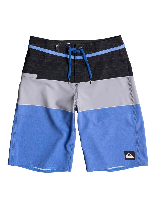 "0 Boy's 8-16 Everyday Blocked Vee 19"" Boardshorts  EQBBS03196 Quiksilver"