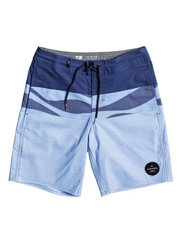 """0 Boy's 8-16 Heatwave Blocked 17"""" Beachshorts  EQBBS03210 Quiksilver"""