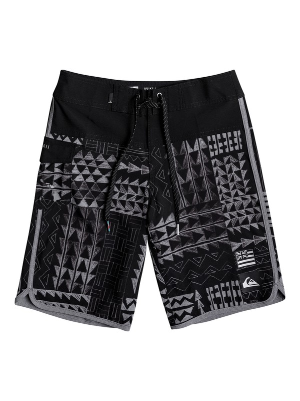 """0 Boy's 8-16 The Scallop Hawaii 18"""" Boardshorts  EQBBS03217 Quiksilver"""