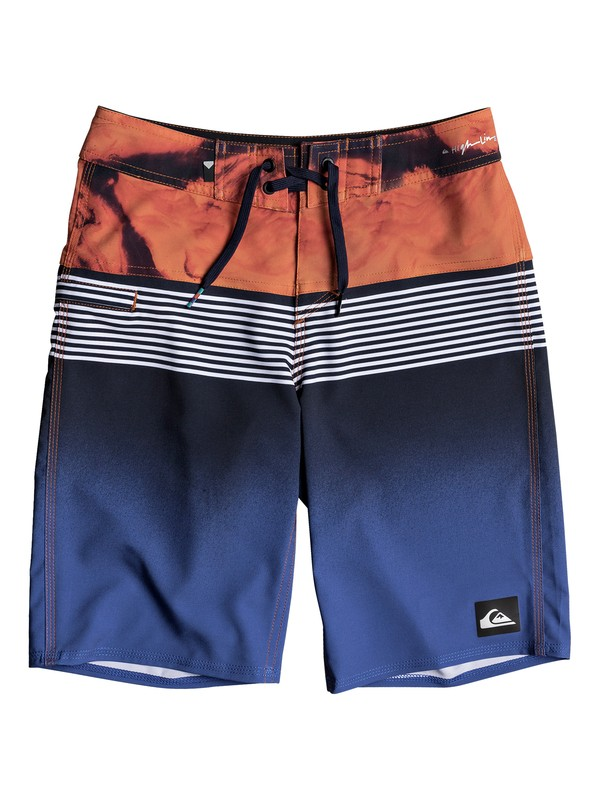 "0 Boy's 8-16 Highline Lava Division 19"" Boardshorts Blue EQBBS03232 Quiksilver"
