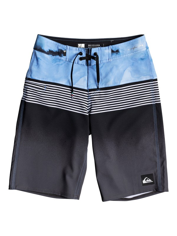 "0 Boy's 8-16 Highline Lava Division 19"" Boardshorts Black EQBBS03232 Quiksilver"