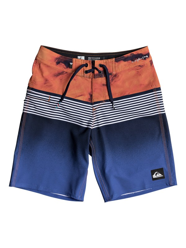 """0 Highline Lava Division 17"""" - Board Shorts for Boys 8-16 Blue EQBBS03233 Quiksilver"""