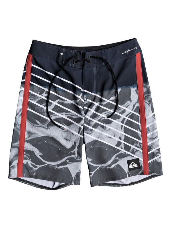 "0 Highline Lava Slash 17"" - Board Shorts for Boys 8-16 Blue EQBBS03235 Quiksilver"