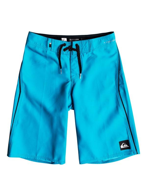 "0 Boy's 8-16 Highline Kaimana 19"" Boardshorts Blue EQBBS03242 Quiksilver"