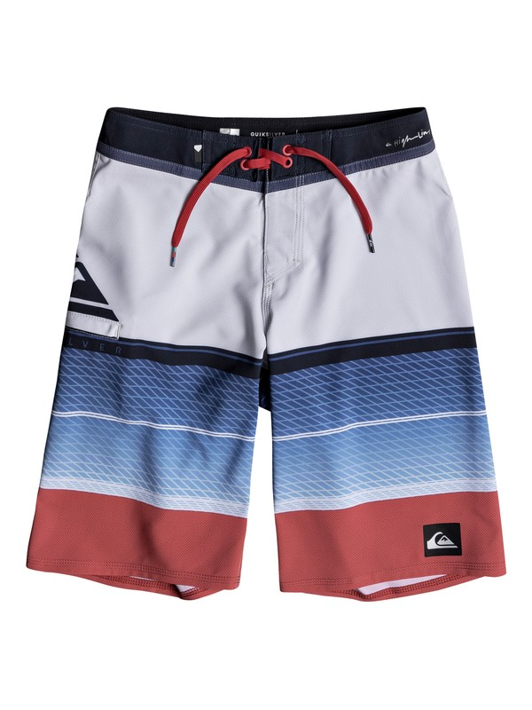"0 Boys 8-16 Highline Slab 19"" - Boardshorts White EQBBS03244 Quiksilver"