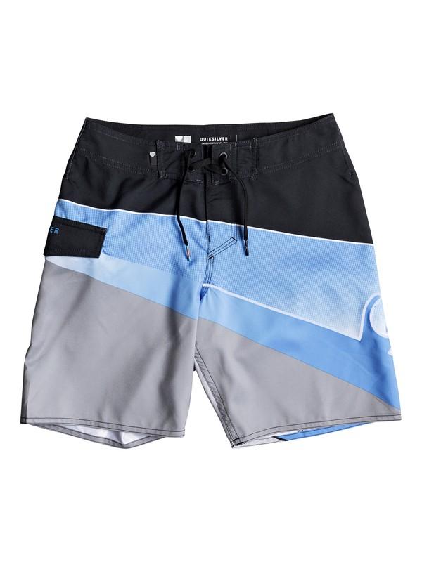 """0 Slash Fade Logo 16"""" - Board Shorts for Boys 8-16 Blue EQBBS03247 Quiksilver"""
