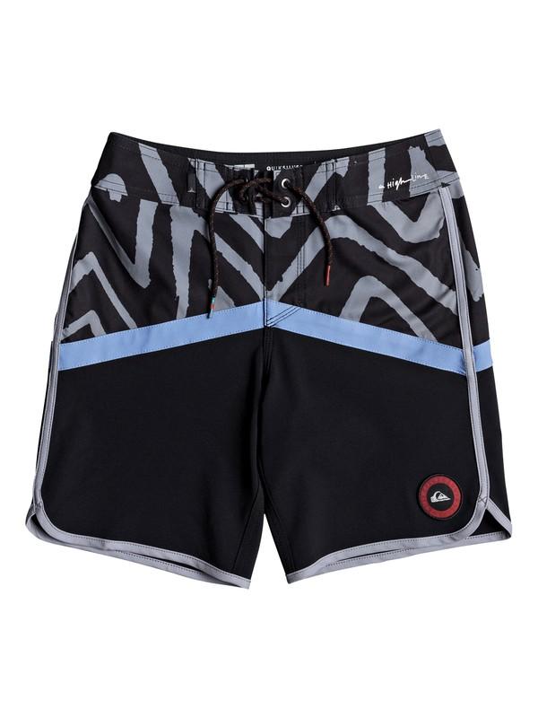 "0 Highline Techtonics 16"" - Board Shorts for Boys 8-16 Blue EQBBS03257 Quiksilver"