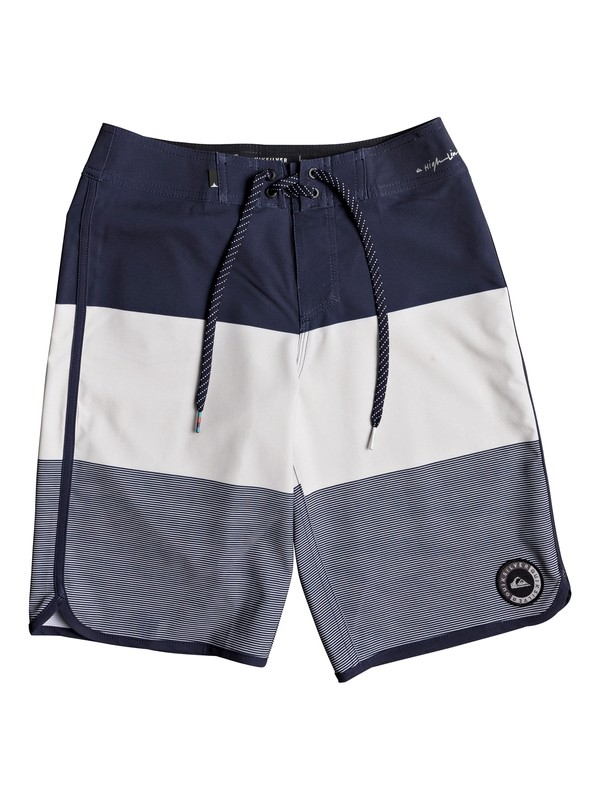 "0 Boys 8 -16 Highline Tijuana Scallop 19"" Boardshorts Blue EQBBS03260 Quiksilver"