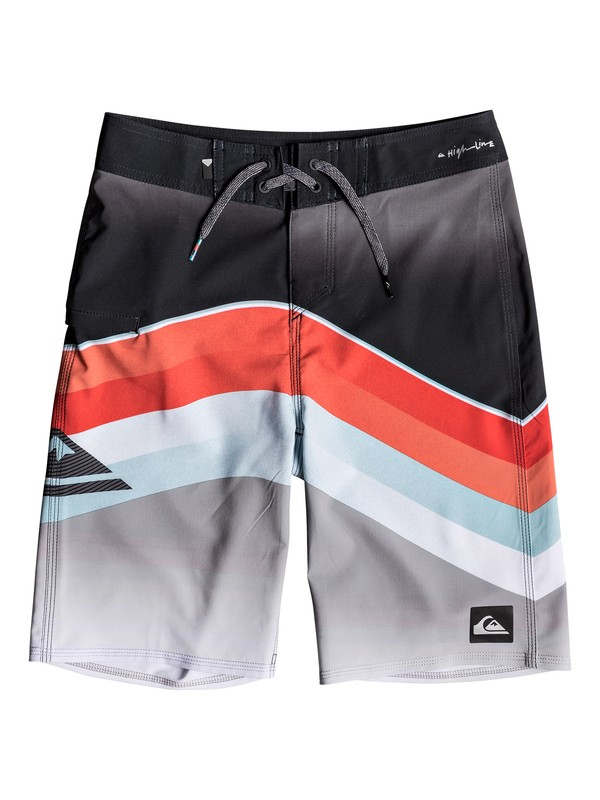 "0 Boy's 8-16 Highline Slab 19"" Boardshorts Red EQBBS03316 Quiksilver"