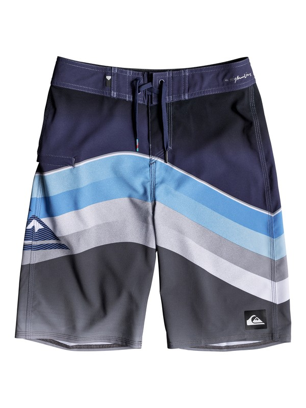 "0 Boy's 8-16 Highline Slab 19"" Boardshorts Blue EQBBS03316 Quiksilver"