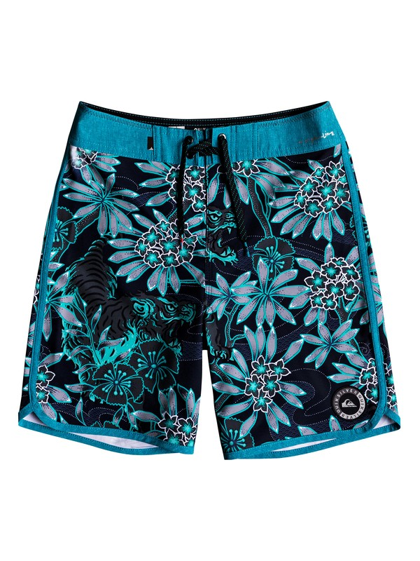 "0 Boy's 8-16 Highline Silent Fury 17"" - Boardshorts Blue EQBBS03331 Quiksilver"