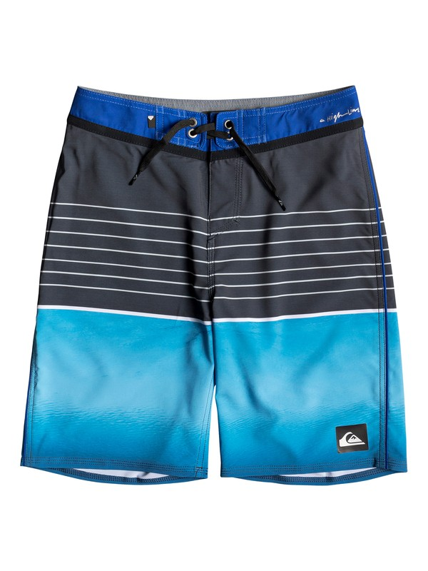 "0 Boy's 8-16 Highline Slab 18"" Boardshorts Purple EQBBS03344 Quiksilver"