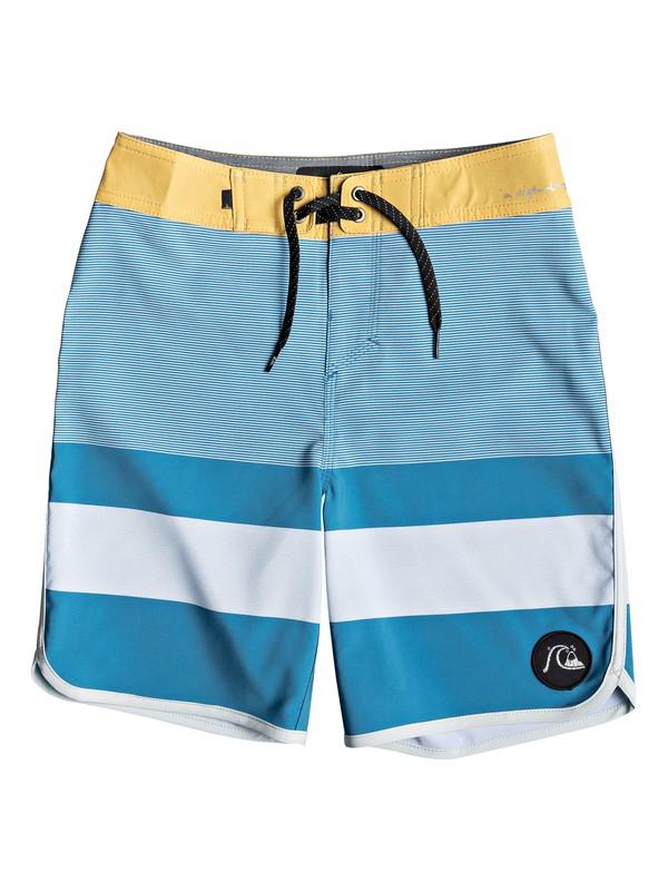"0 Boy's 8-16 Highline Tijuana 17"" Boardshorts Blue EQBBS03349 Quiksilver"
