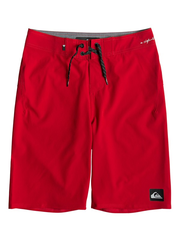 "0 Boy's 8-16 Highline Kaimana 19"" Boardshorts Red EQBBS03358 Quiksilver"