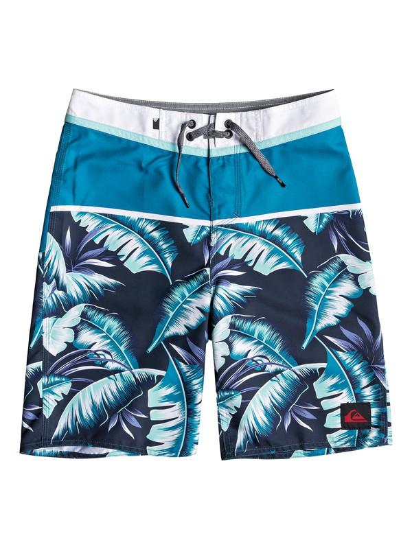 "0 Boy's 8-16 Everyday Noosa 18"" Boardshorts Blue EQBBS03359 Quiksilver"