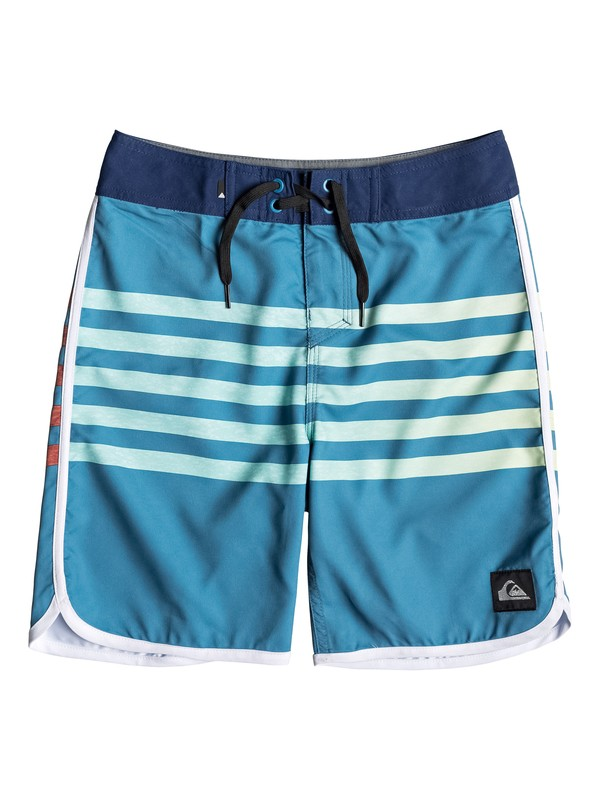"0 Boy's 8-16 Everyday Grass Roots 17"" Boardshorts Blue EQBBS03361 Quiksilver"