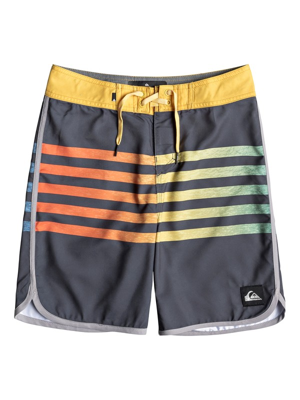 """0 Boy's 8-16 Everyday Grass Roots 17"""" Boardshorts Black EQBBS03361 Quiksilver"""