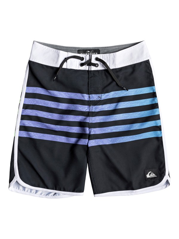 "0 Boy's 8-16 Everyday Grass Roots 17"" Boardshorts Black EQBBS03361 Quiksilver"
