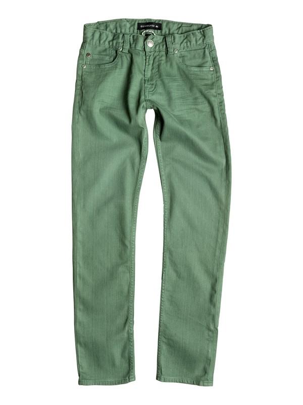 0 Distorsion Colors - Slim Fit Jeans Green EQBDP03098 Quiksilver