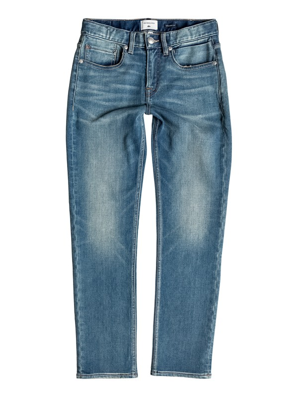 0 Revolver Stormy Blue - Straight Fit Jeans  EQBDP03100 Quiksilver