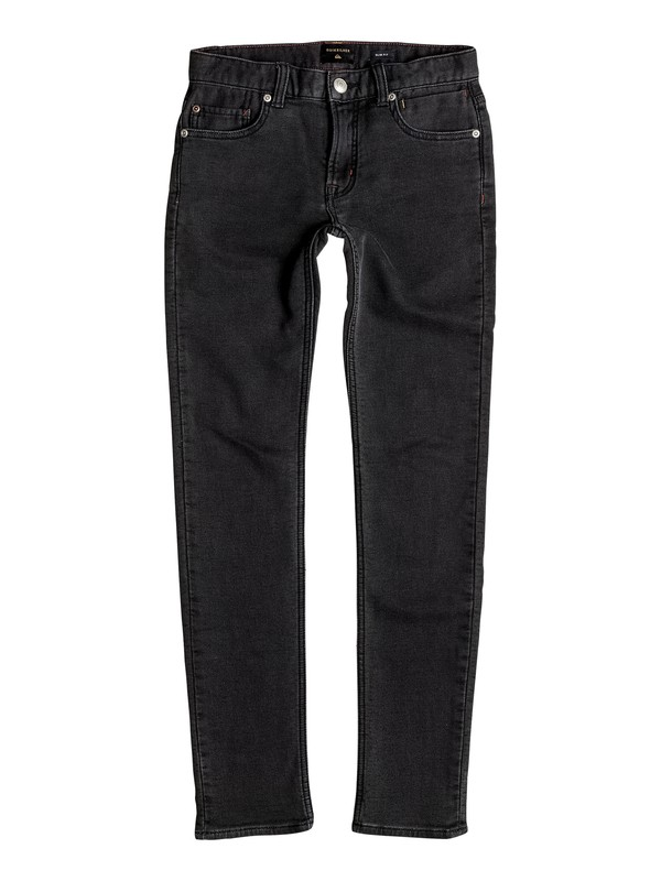 0 Distorsion Fleece Grey - Slim Fit Jersey Denim Jeans  EQBDP03125 Quiksilver