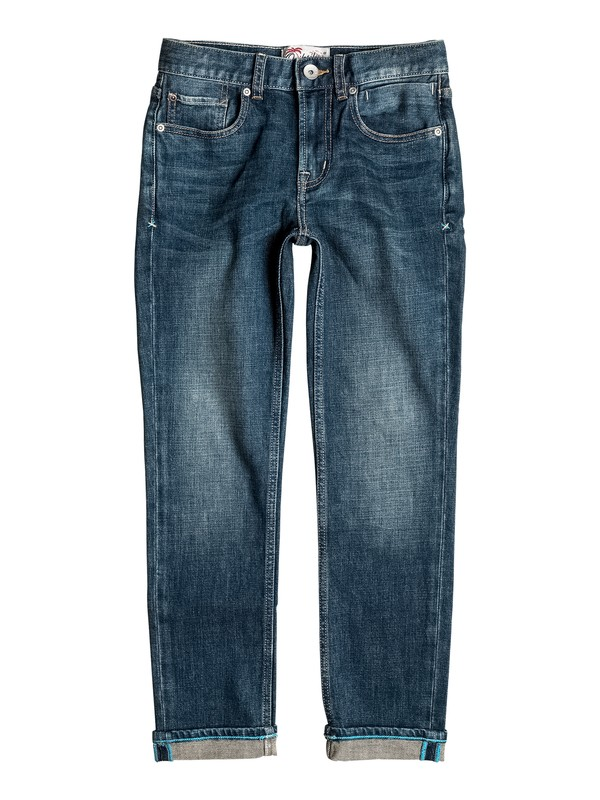0 Revolver Neo Dust - Straight Fit Jeans Blau EQBDP03126 Quiksilver