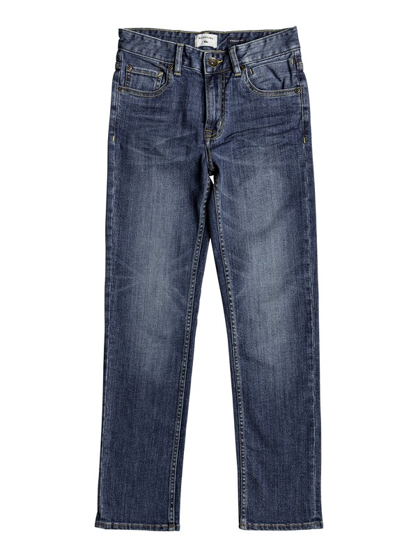 0 Revolver Sky - Straight Fit Jeans for Boys 8-16 Blue EQBDP03135 Quiksilver