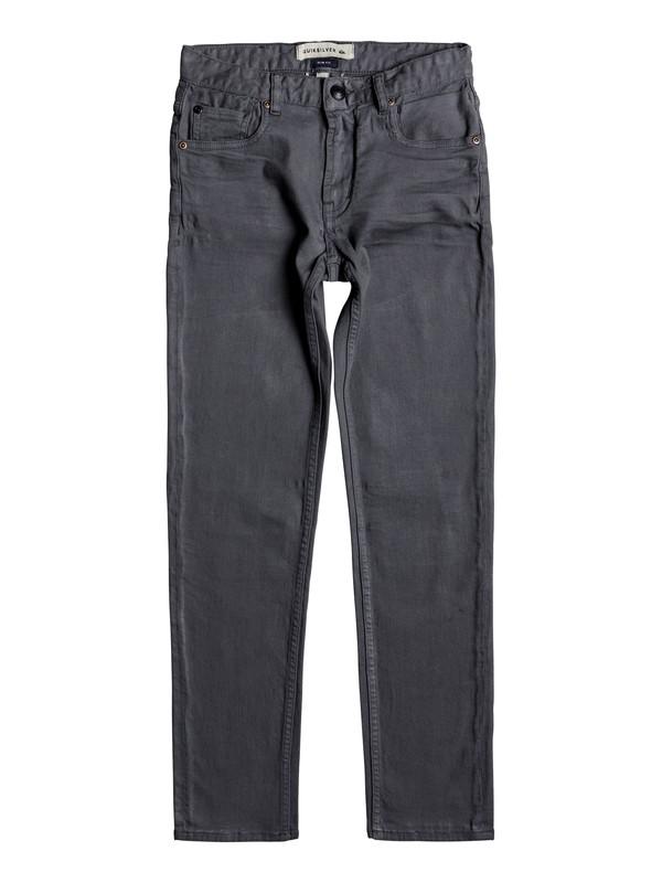0 Distorsion Colors - Slim Fit Jeans Black EQBDP03137 Quiksilver