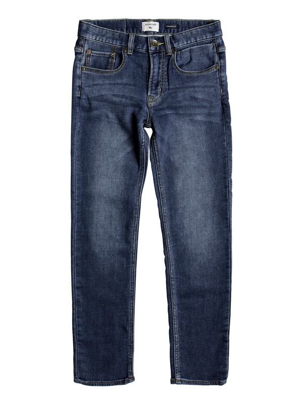 0 Revolver Hash Blue - Straight Fit Jeans for Boys 8-16  EQBDP03138 Quiksilver
