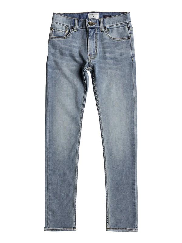 0 Distorsion Sunny Blue - Pantaloni Vestibilità Slim da Ragazzo 8-16 Blue EQBDP03140 Quiksilver