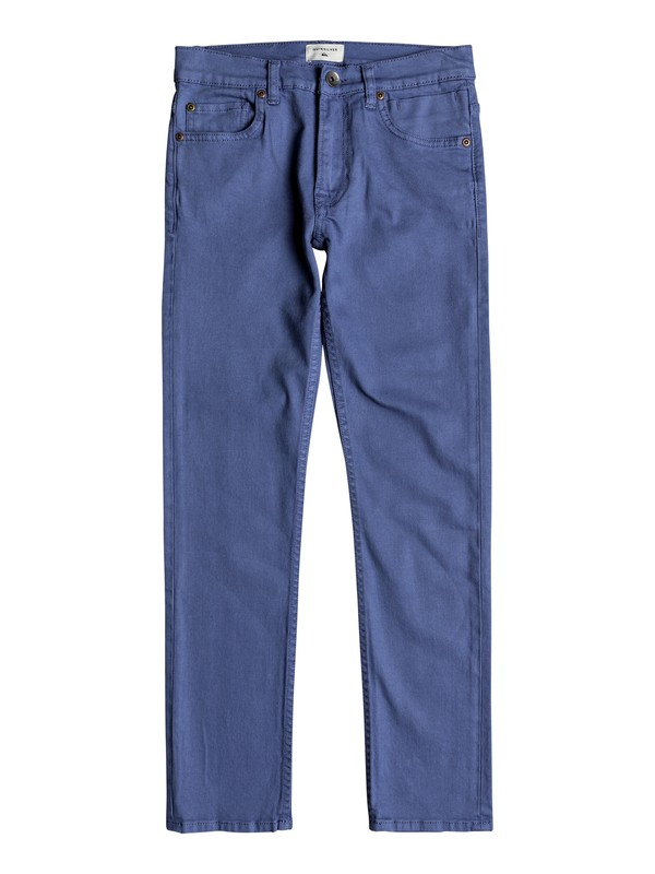 0 Distorsion Colors - Slim Fit Jeans Blue EQBDP03149 Quiksilver