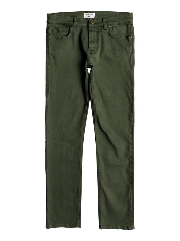 0 Boy's 8-16 Distorsion Colors Slim Fit Jeans Brown EQBDP03149 Quiksilver