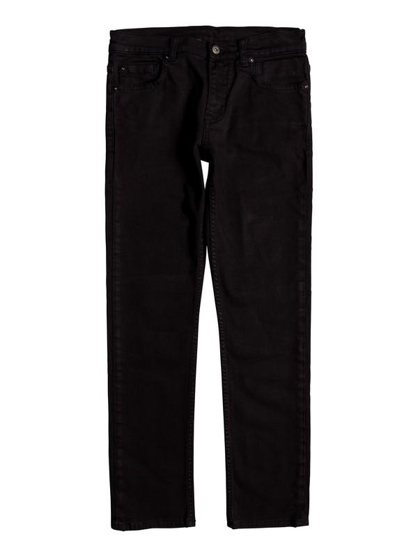 0 Boy's 8-16 Distorsion Colors Slim Fit Jeans Black EQBDP03149 Quiksilver