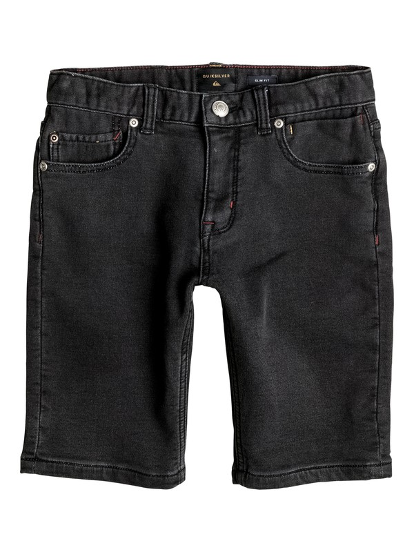 0 Distorsion Fleece Grey - Denim Shorts Black EQBDS03041 Quiksilver