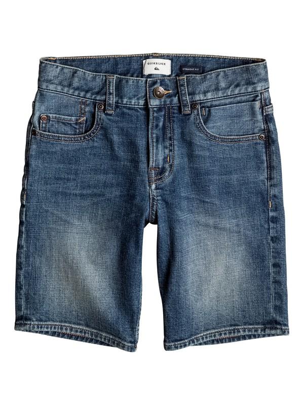 0 Revolver Sky - Denim Shorts Blue EQBDS03045 Quiksilver