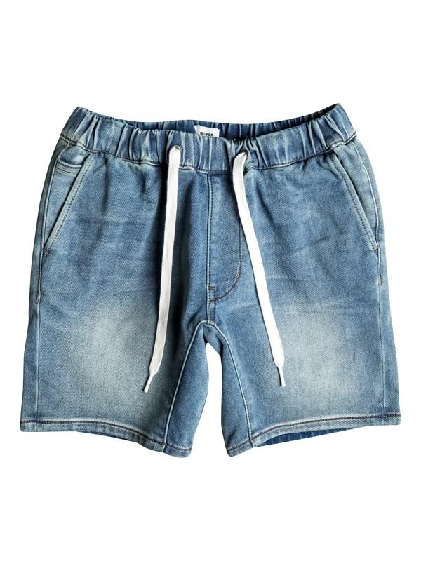 0 Fonic Creamy - Slim Fit Denim Jogger Shorts  EQBDS03046 Quiksilver