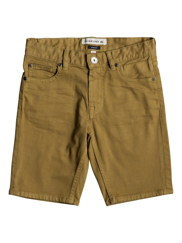 0 Distorsion Colors - Denim Shorts for Boys 8-16 Brown EQBDS03050 Quiksilver