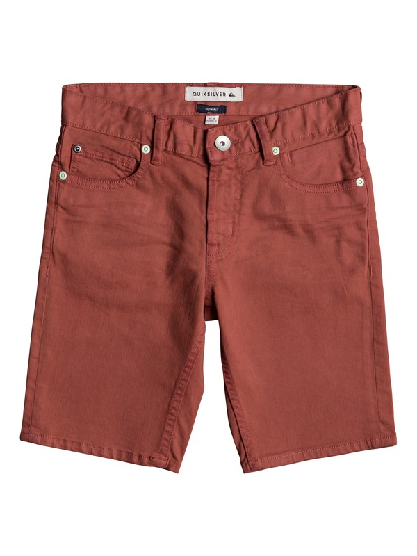 0 Distorsion Colors - Short en denim pour Garçon 8-16 ans Rose EQBDS03050 Quiksilver