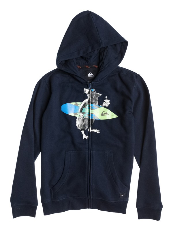 0 Hood Zip Surf School Youth  EQBFT03055 Quiksilver
