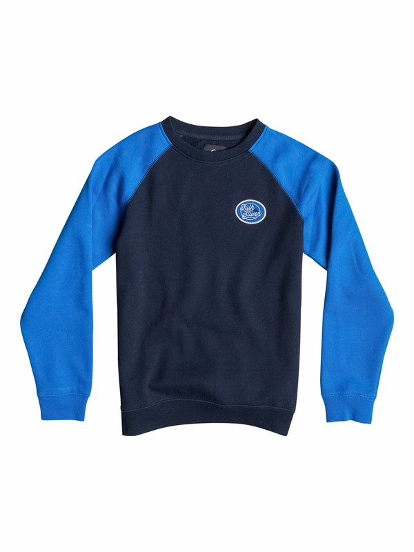 0 Active Crew Block - Pullover Sweatshirt  EQBFT03067 Quiksilver