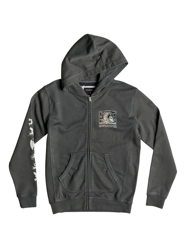 0 Boy's 8-16 Fine Art Zip-Up Hoodie  EQBFT03273 Quiksilver