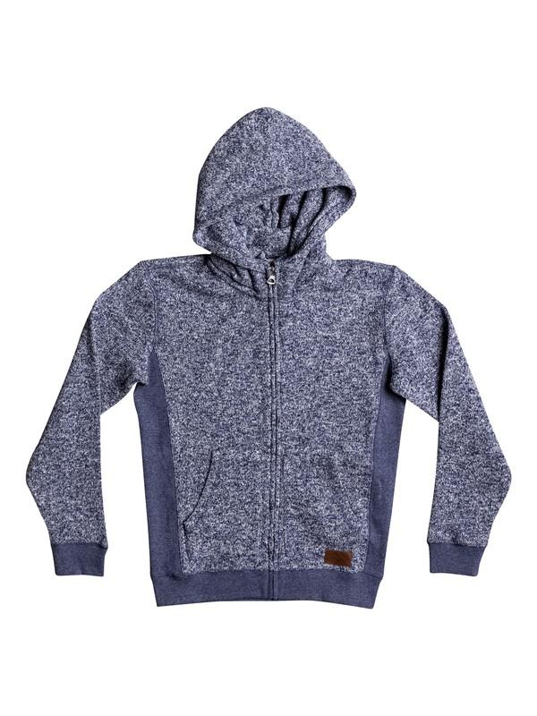 0 Keller - Sweat à capuche zippé Bleu EQBFT03388 Quiksilver